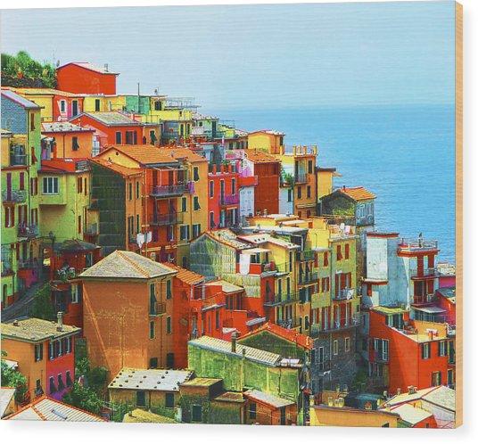 Corniglia Cinque Terre Wood Print