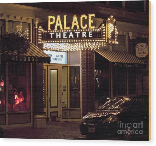 Corning Palace Theatre Wood Print