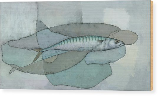 Cornish Mackerel Wood Print