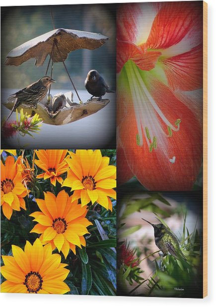 Cornucopia Garden Wood Print