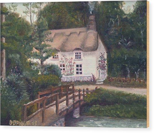 Cornwall Cottage Wood Print