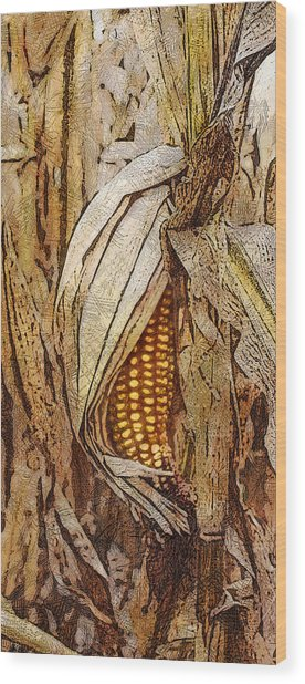 Corny Wood Print