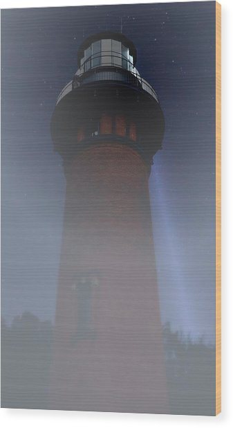 Corolla Lighthouse Wood Print