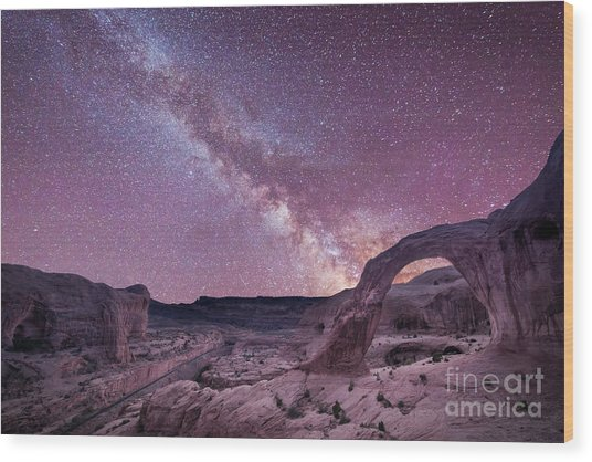 Corona Arch Milky Way Wood Print