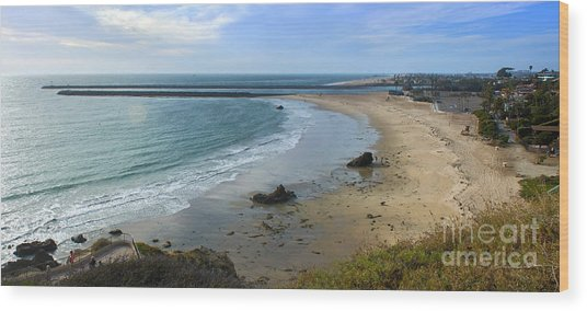 Corona Del Mar Beach View - 02 Wood Print