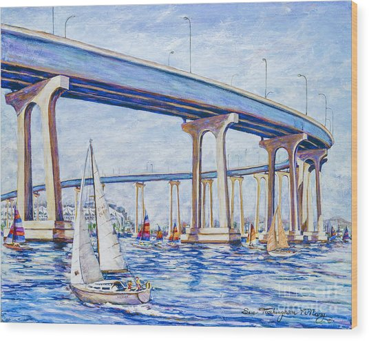Coronado Bay Bridge Wood Print