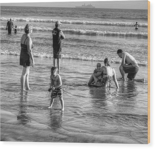 Coronado Beach Tourist Wood Print