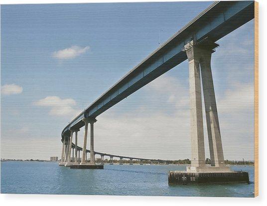 Coronado Bridge Wood Print by Andrew Kasten