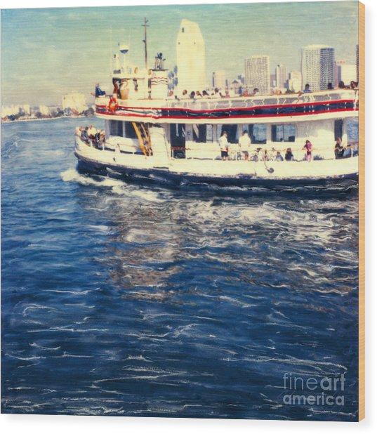 Coronado Ferry Wood Print