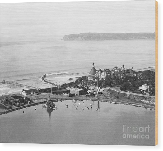 Coronado From Above 1920's Wood Print