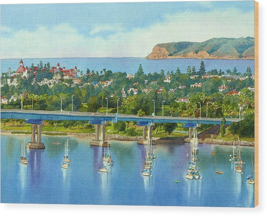 Coronado Island California Wood Print