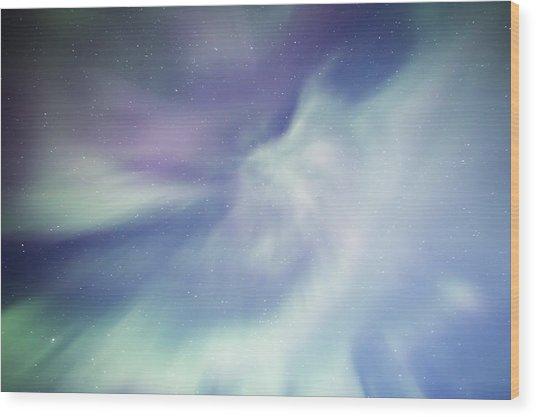 Coronal Aurora Wood Print