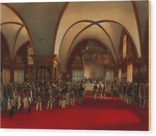 Coronation Banquet Wood Print