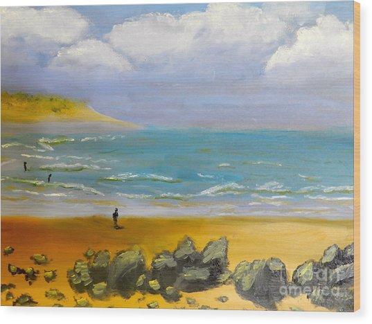 Corrimal Beach Wood Print