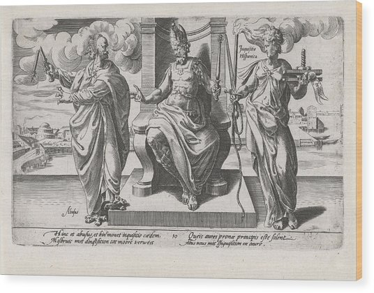 Corrupt Rulers And The Spanish Inquisition Commit Murder Wood Print