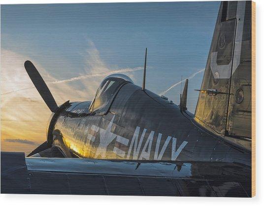 Corsair Sunset Wood Print