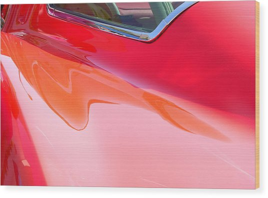 Wood Print featuring the photograph Corvette Beautiful Art Lines by Jeff Lowe