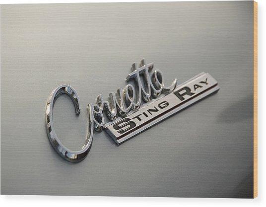Corvette Sting Ray Wood Print