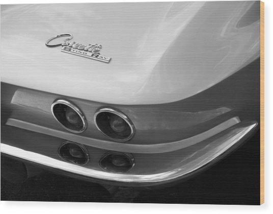 Corvette Sting Ray Wood Print by David Wornham