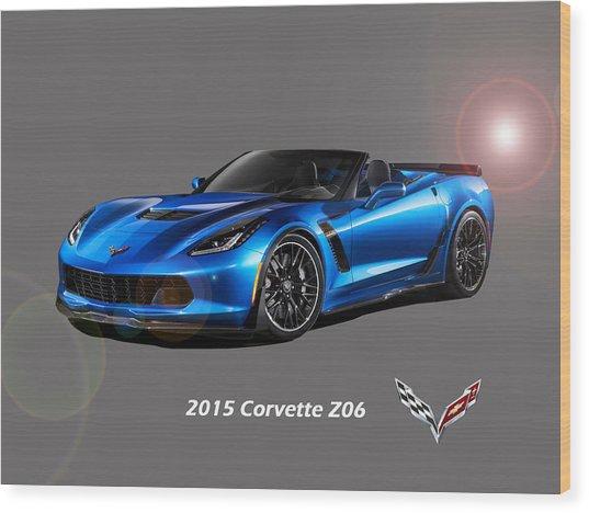 Corvette Z06 Convertible Wood Print