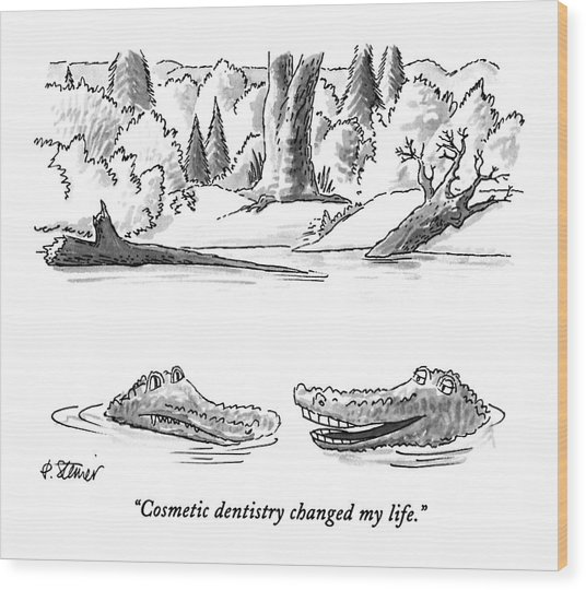 Cosmetic Dentistry Changed My Life Wood Print