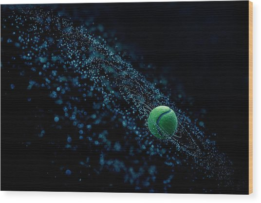 Cosmic Ball Wood Print