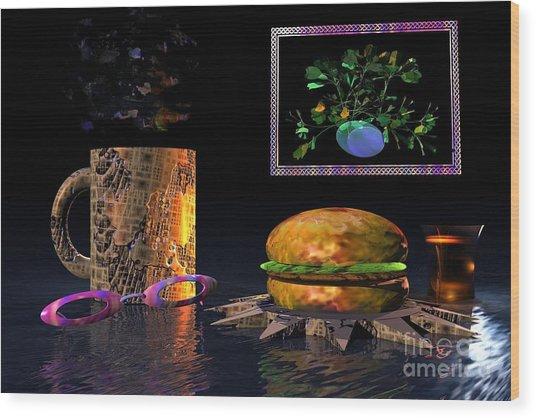Cosmic Burger Wood Print