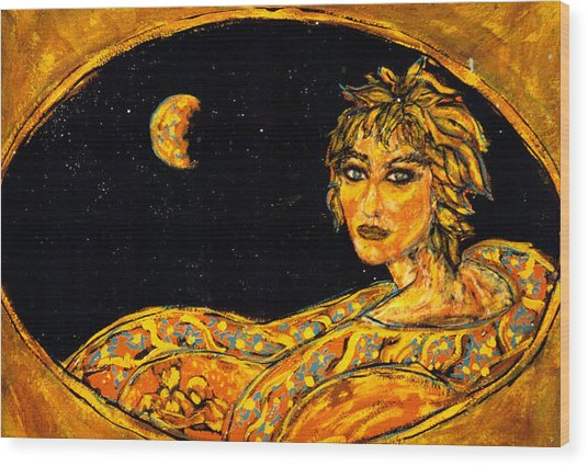 Cosmic Child Wood Print