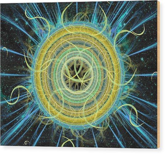 Cosmic Circle Fusion Wood Print