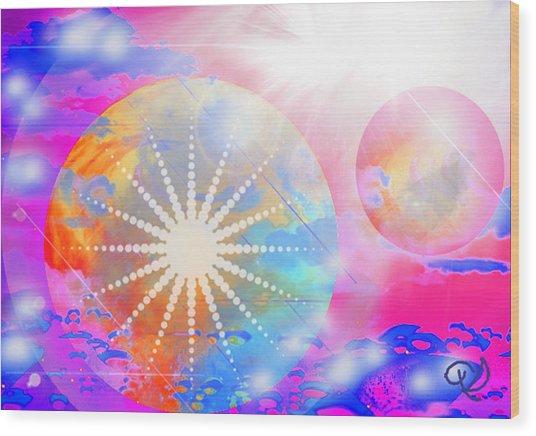 Cosmic Delight Wood Print
