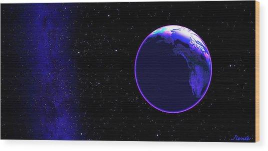 Cosmic Embrace #1 Wood Print