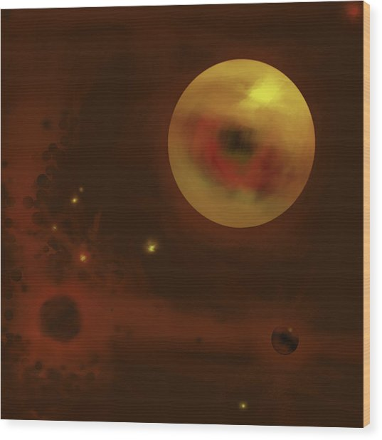Cosmic Eye Wood Print