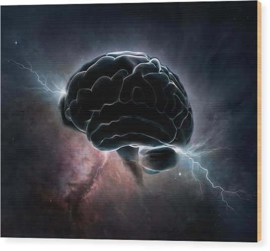 Cosmic Intelligence Wood Print