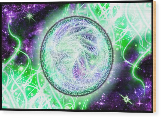 Cosmic Lifestream Wood Print