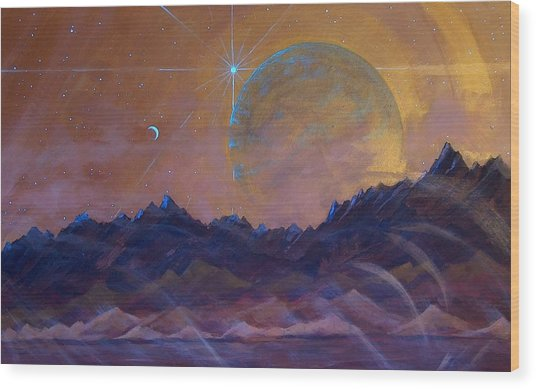 Cosmic Light Series Wood Print