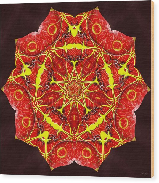 Cosmic Masculine Firestar Wood Print