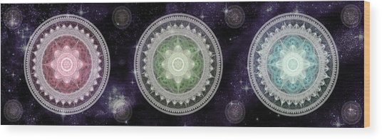 Cosmic Medallians Rgb 2 Wood Print
