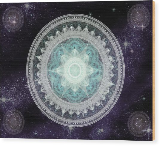 Cosmic Medallions Water Wood Print