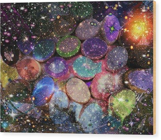 Cosmic Ovule Wood Print