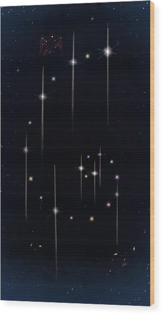 Cosmos - Art Of The Science Tarot Wood Print