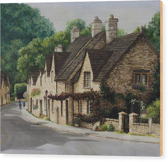 Cotswold Street Wood Print