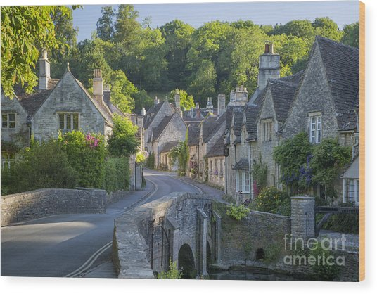 Cotswold Village Wood Print