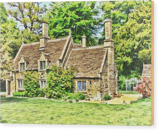 Wood Print featuring the photograph cottage at Bowood-01 by Paul Gulliver