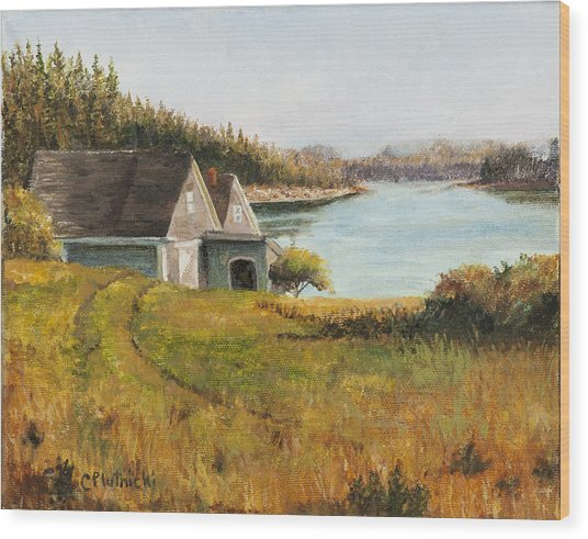 Cottage Glow Wood Print
