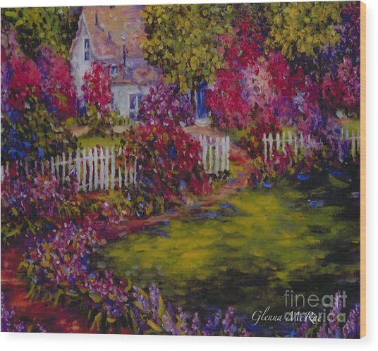 Cottage Of My Heart's Delight Wood Print