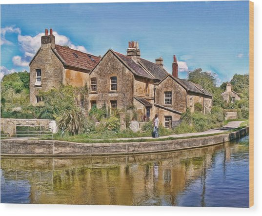 Cottages At Avoncliff Wood Print