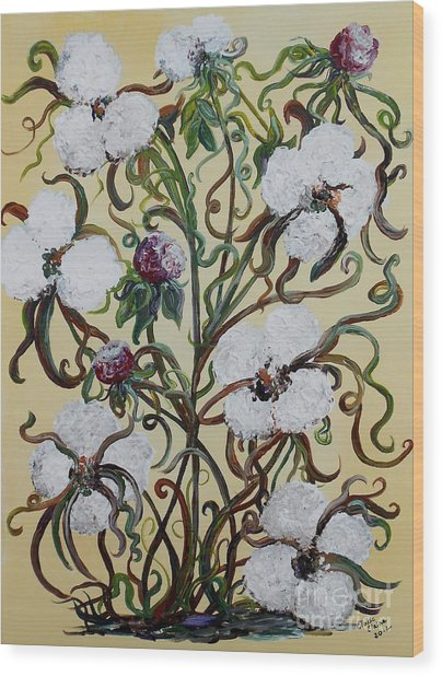 Cotton #1 - King Cotton Wood Print