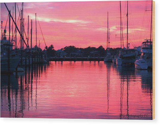 Cotton Candy Sunset Wood Print