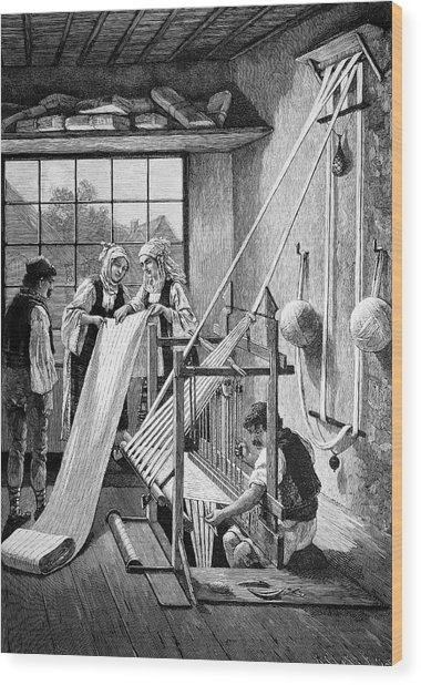 Cotton Loom Wood Print by Bildagentur-online/tschanz