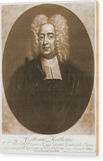 Cotton Mather 1728 Wood Print by Padre Art